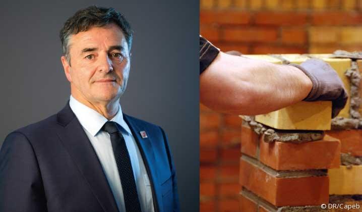 Dominique Métayer, président de l'Union nationale artisanale maçonnerie-carrelage.