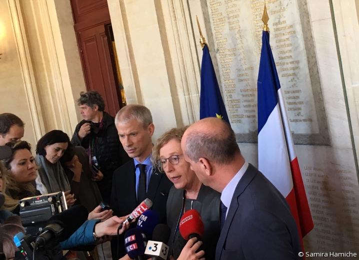 Point presse de Muriel Pénicaud, Franck Riester et Jean-Michel Blanquer