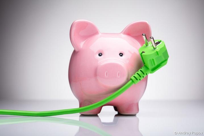 Tirelire - facture d'électricité