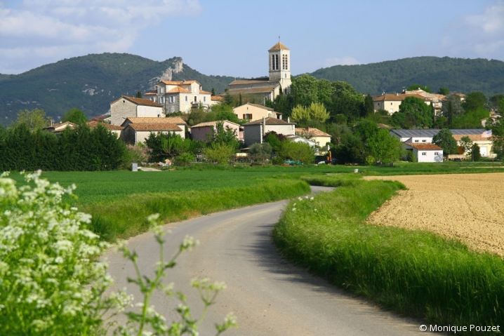 Vue du village de Beaulieu, en Ardèche