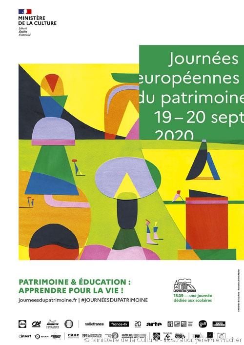 Affiche Journées du patrimoine 2020