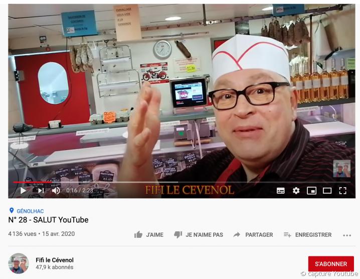 Fifi le Cévenol, boucher youtubeur