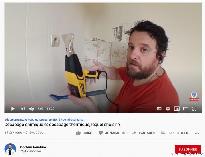 Artisan peintre youtubeur, Docteur Peinture
