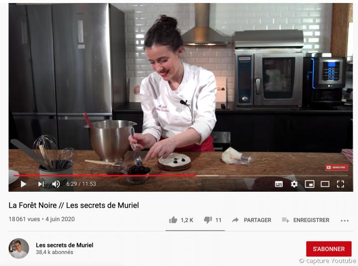 Muriel Cuvelier, artisane pâtissière youtubeuse