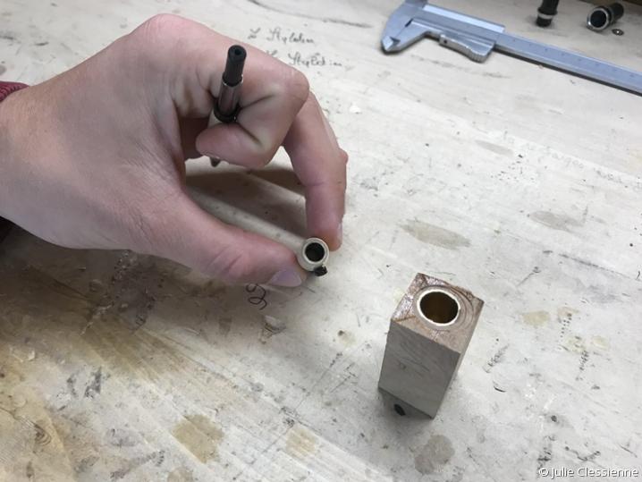 pièce en laiton en coupe transversale