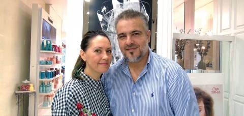 Lydie et Sébastien Chapeau, gérants du salon de coiffure Artistyk