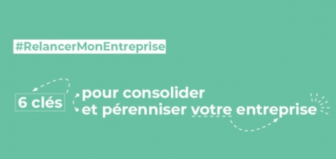 """Visuel de la campagne de CMA France """"Relancer mon entreprise"""""""