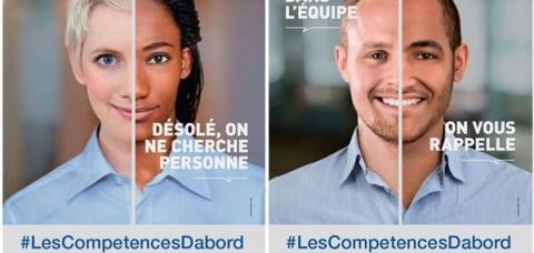 Campagne de sensibilisation contre les discriminations à l'embauche. Avril 2016.