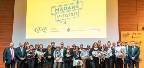 Photo de groupe des lauréates du prix Madame Artisanat 2020