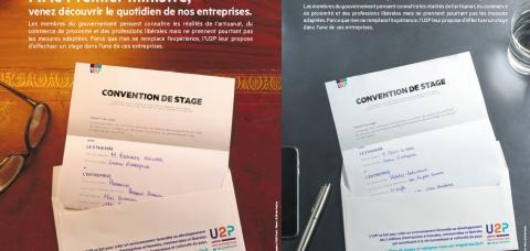 Montage des conventions de stages adressées à Edouard Philippe et Bruno Le Maire
