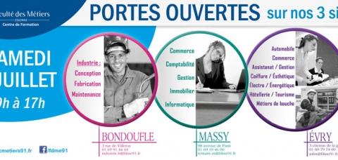 Portes ouvertes juillet 2016 faculté des métiers Essonne